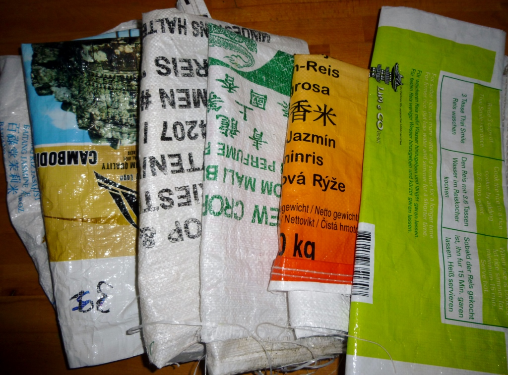 Upcycling From Recycled Rice Sacks Unique Items From Old Material Find Your Unique